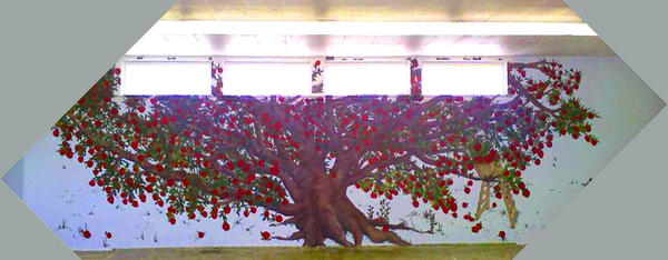 Apple tree mural by marcoangelo llc on deviantart for Apple tree mural