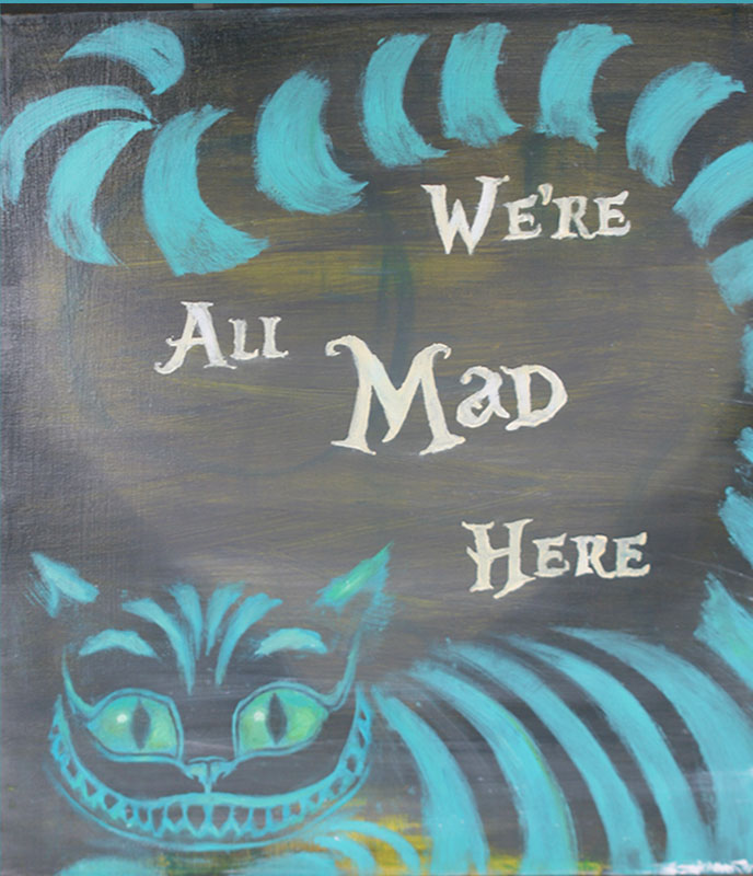 Cheshire Cat Alice In Wonderland Quotes: We're All Mad Here By LZakaria On DeviantArt