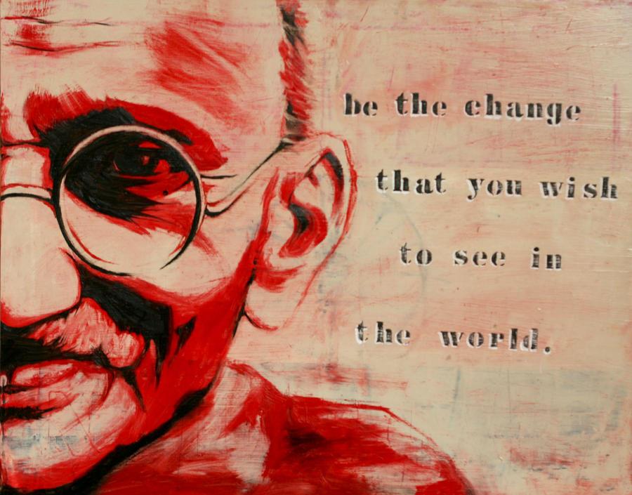 Gandhi by LZakaria