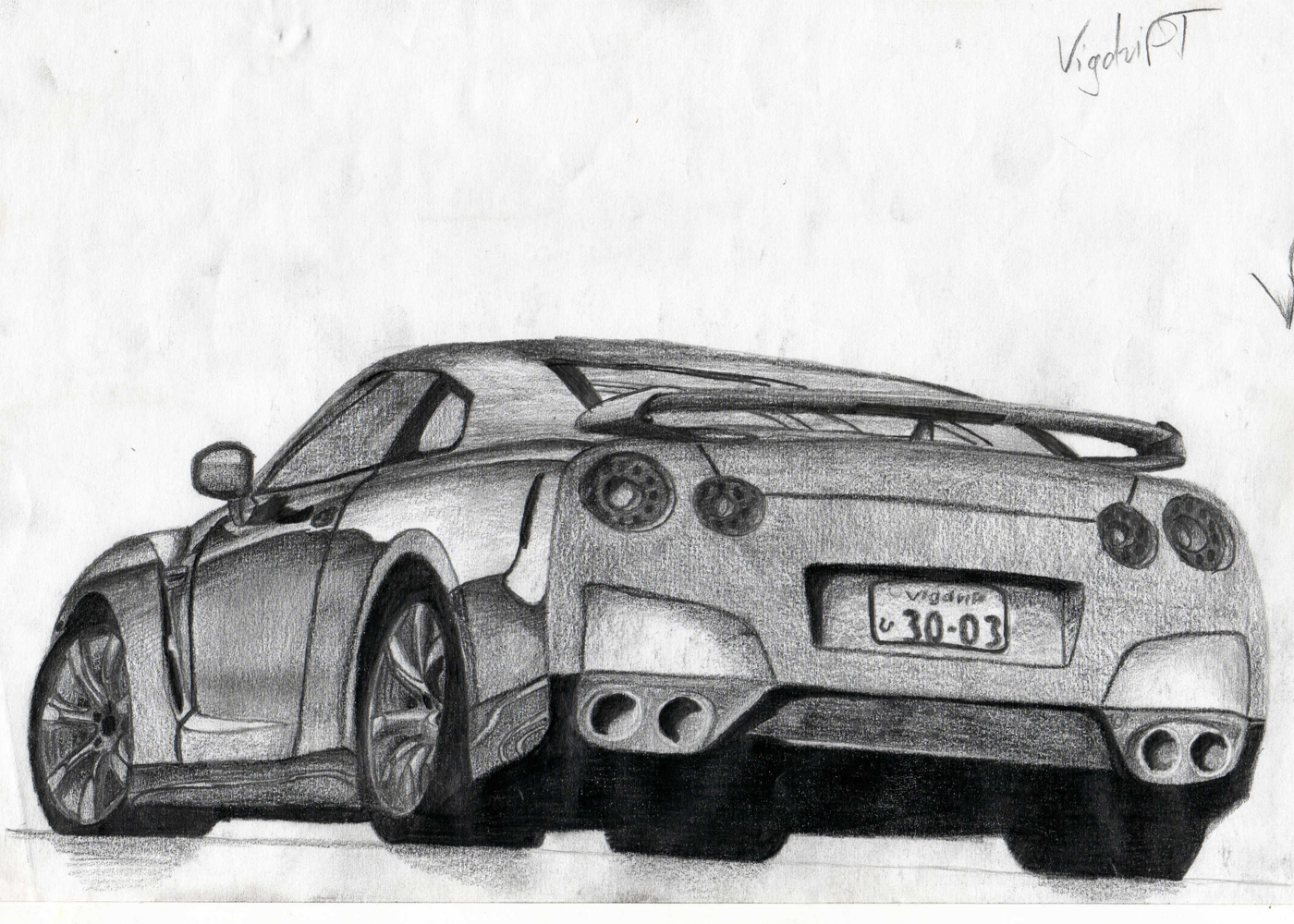 Nissan GT-R drawing by VigdriFT on DeviantArt