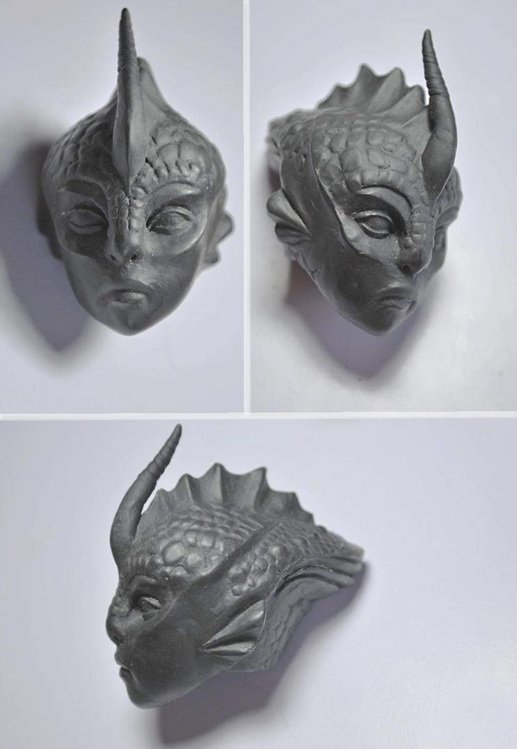 BJD - Scylla - An Alien Head by FreakStyleBJD