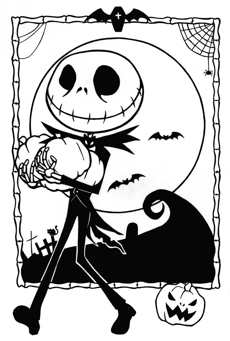 Line Art Halloween : Jack makes halloween lineart by sefi on deviantart