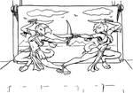 Sword Dancers lineart