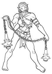 Female Orc Warrior by MajorKiz