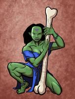 Orc Priestess Colored by MajorKiz