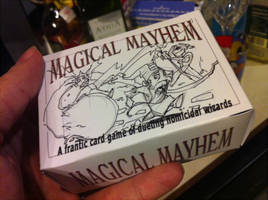 Magical Mayhem prototype box by MajorKiz