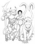 Sorceress and Pets
