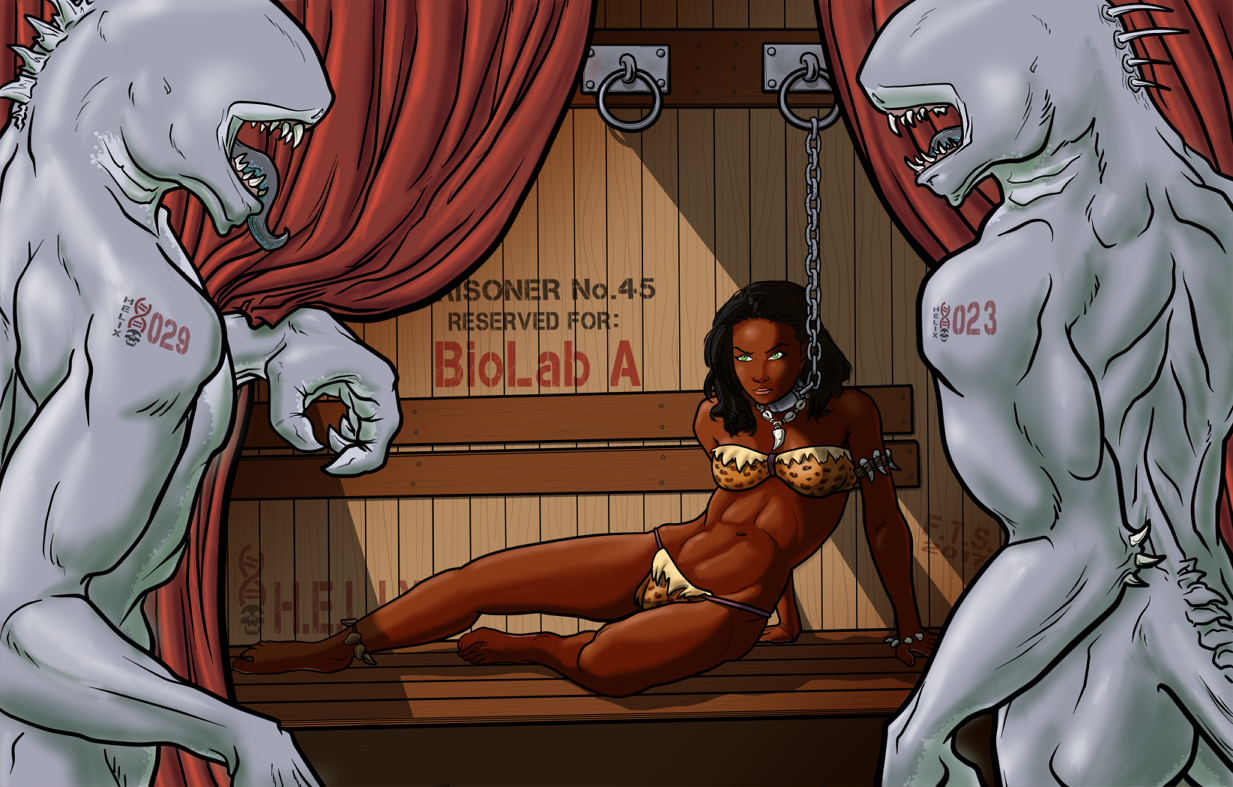 The Jungle Queen and the Sharkmen of H.E.L.I.X. by MajorKiz