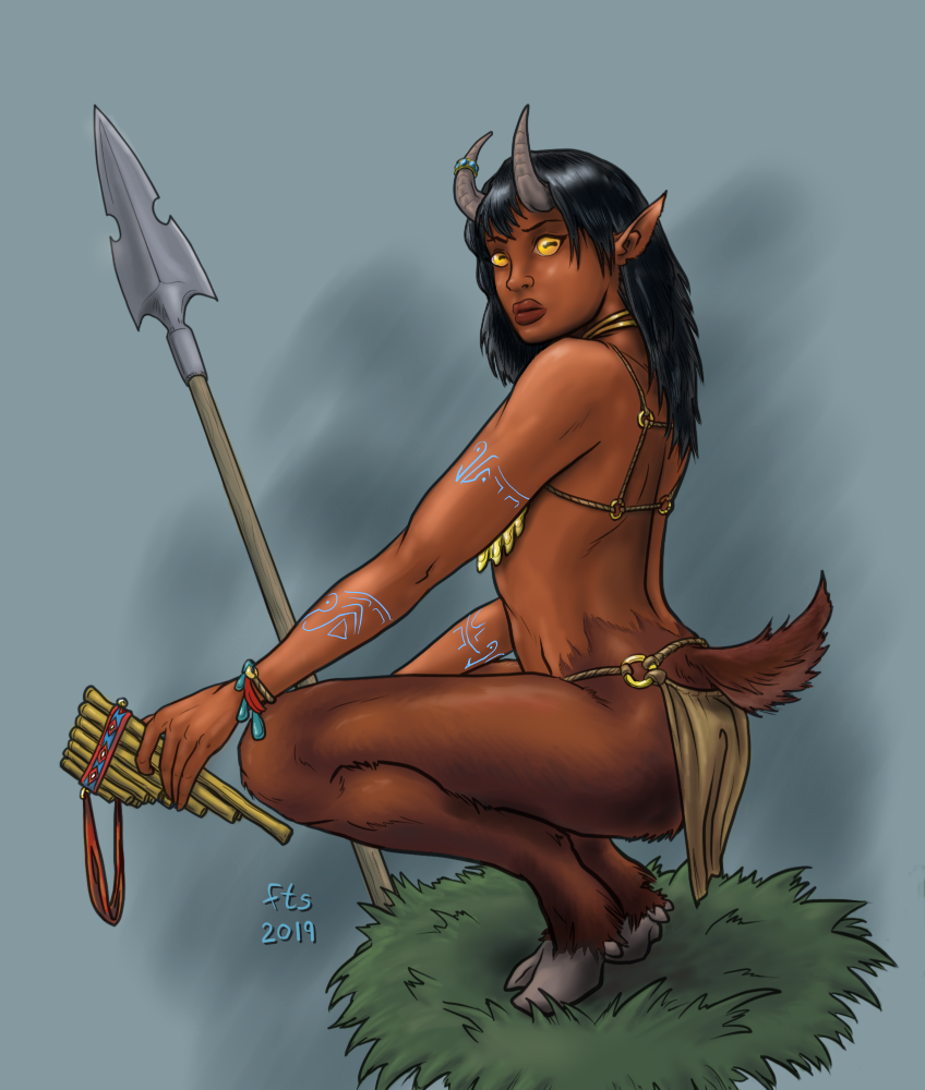 Satyress Resting (Color)