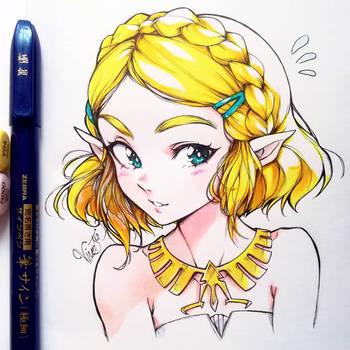Zelda short hair by BeliVinetsu