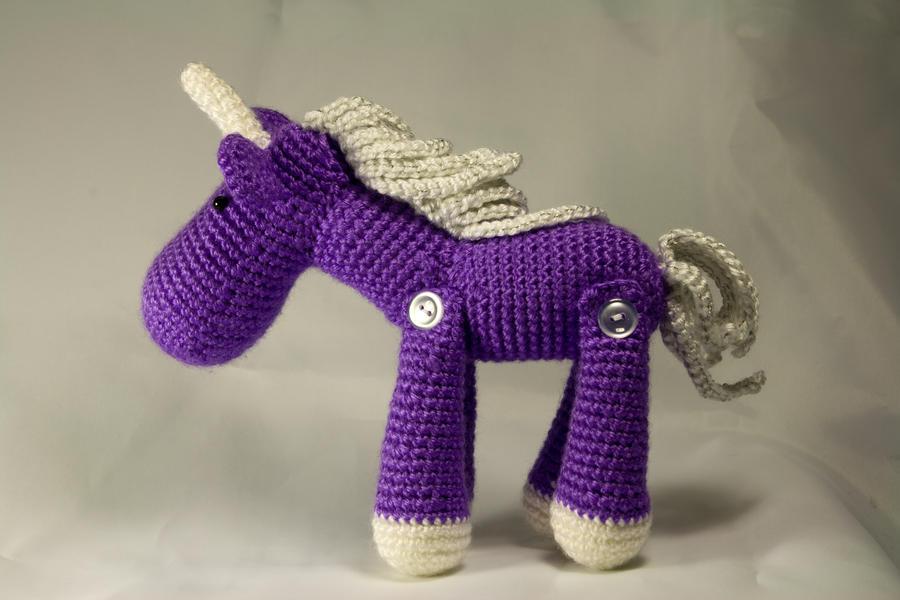 Amigurumi Unicorn Horn : Purple Amigurumi Jointed Unicorn by karenscrochetcorner on ...
