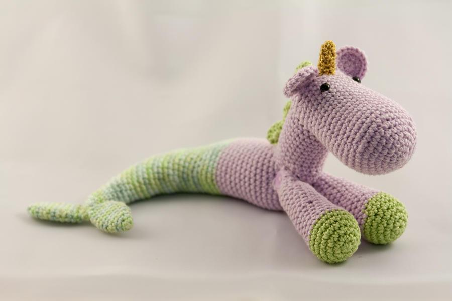 Little Amigurumi Mermaid Unicorn by karenscrochetcorner