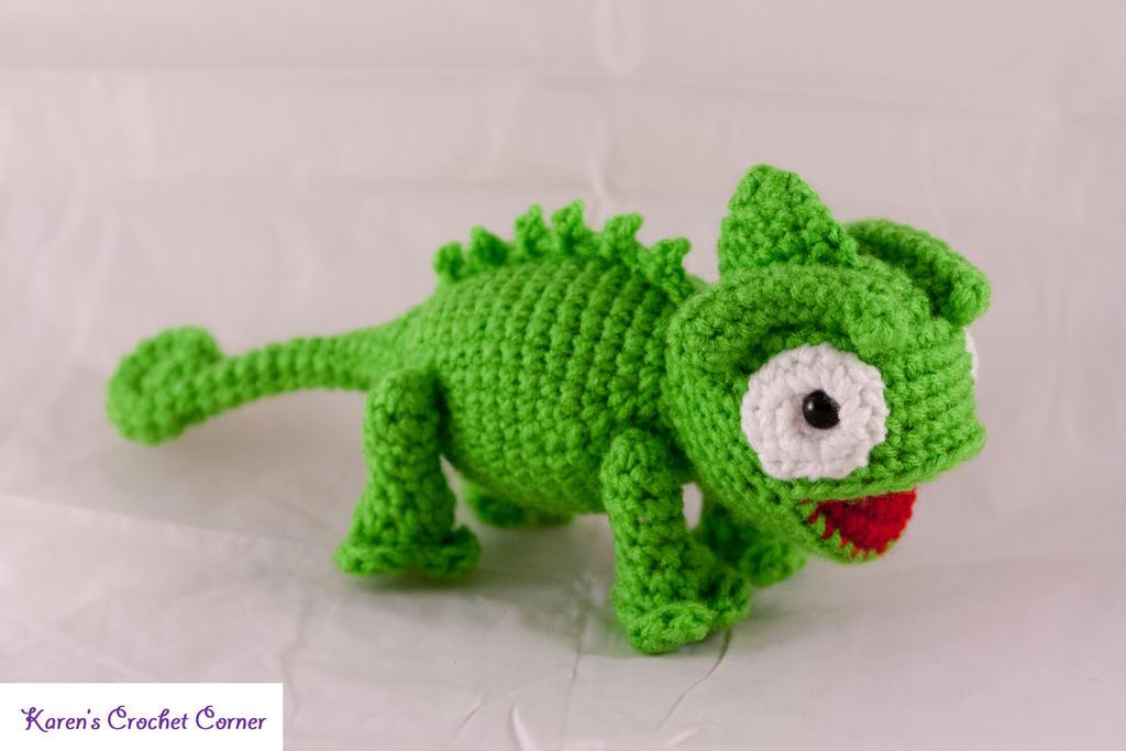 Amigurumi Chameleon : Amigurumi Chamaleon by karenscrochetcorner on DeviantArt