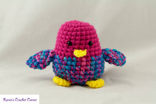 Chirping Bird - Pink and Turquoise 1