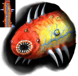 Cilia Monster from Abadox
