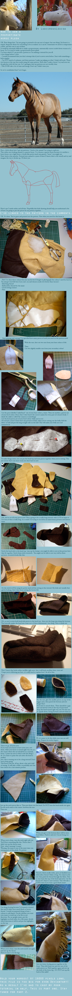 Horse plush tutorial part 1 by ludicrouslouisa