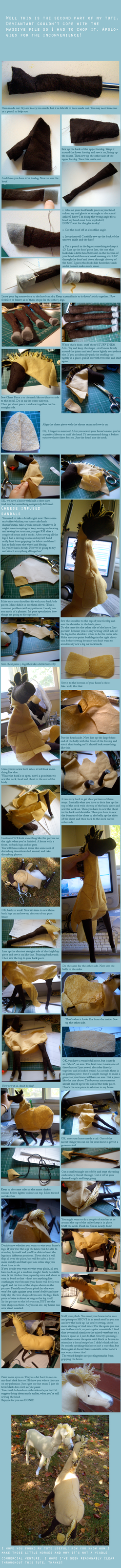 Horse plush Tutorial part 2 by ludicrouslouisa