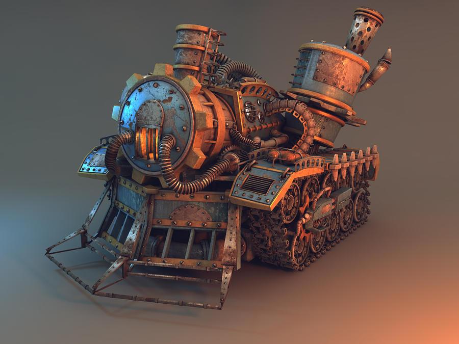 steampunk tank by oxeren on deviantart. Black Bedroom Furniture Sets. Home Design Ideas
