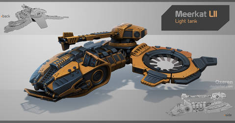 Meerkat LII Light Tank by Oxeren