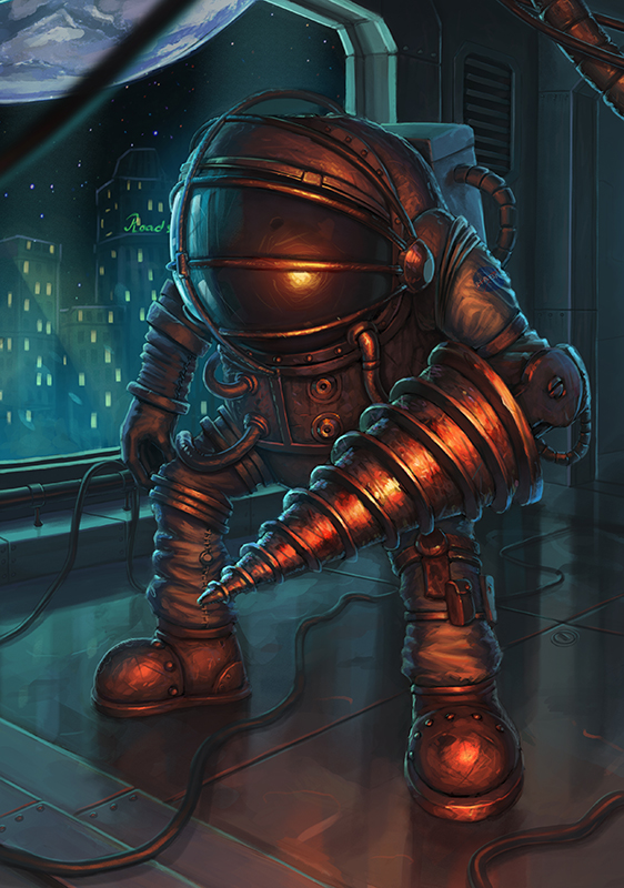 Astronaut Big Daddy Bioshock Fanart By Oxeren On Deviantart