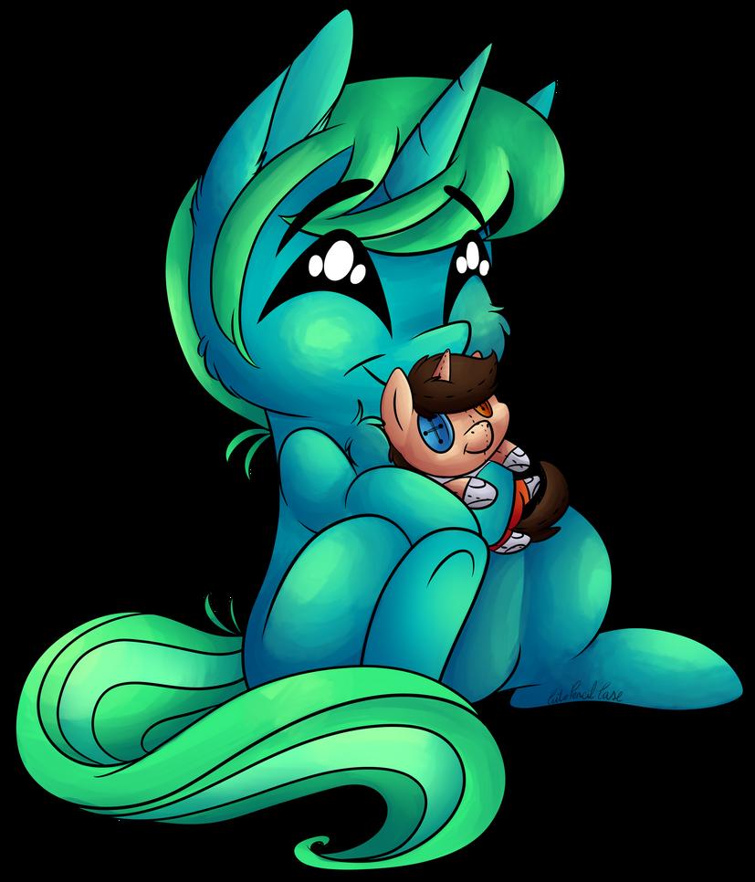 [YCH] Portal Plushie Hug by CutePencilCase