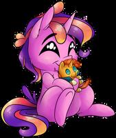 [YCH] Lala hugging Sunburst by CutePencilCase