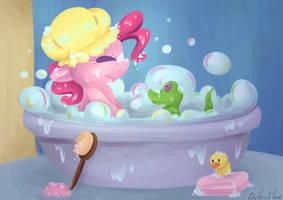 Pinkie Bath by CutePencilCase