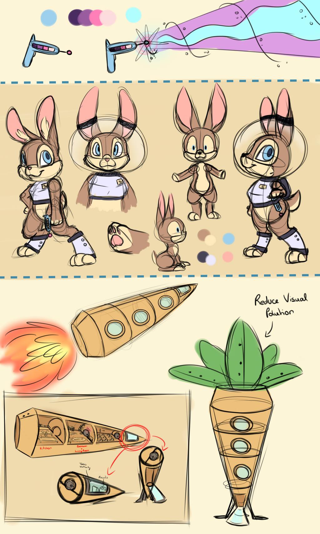 Space Bunny Ref Sketch by CutePencilCase
