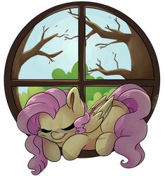 Fluttershy's Window by CutePencilCase