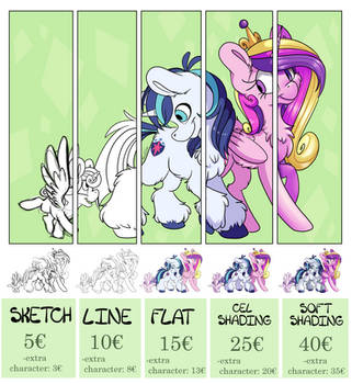 Digital Commission Price List by CutePencilCase