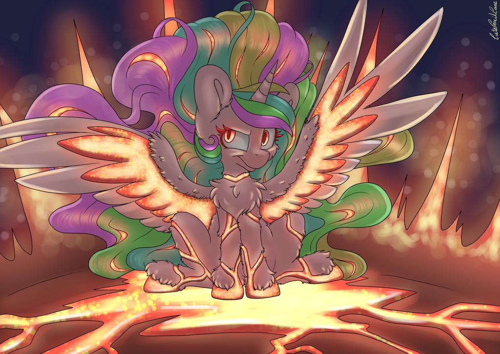 Glowy Celestia by CutePencilCase