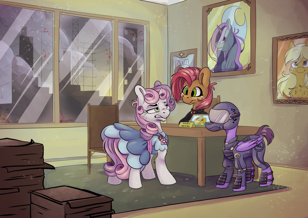 [Commission] Office Meeting by CutePencilCase