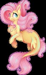 Merpony Fluttershy by CutePencilCase