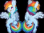 Rainbow Dash Charm