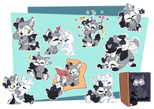 [Commission] Shadila Telegram Stickers by CutePencilCase