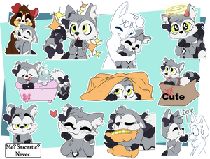 [Commission] Shadila Telegram Stickers 2 by CutePencilCase