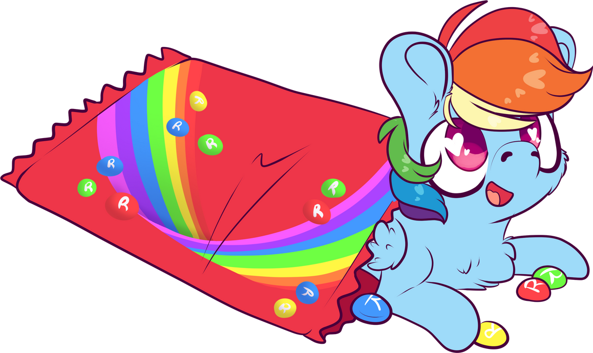Skittles Rainbow Dash by CutePencilCase