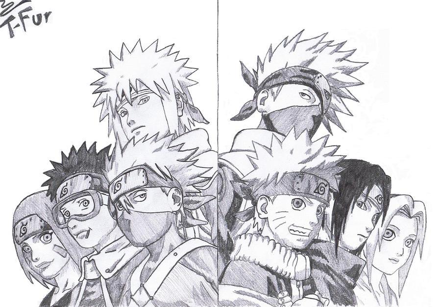 Team Minato vs. team K...