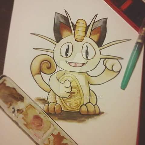 Good Luck Meowth! by AmayaTsuki