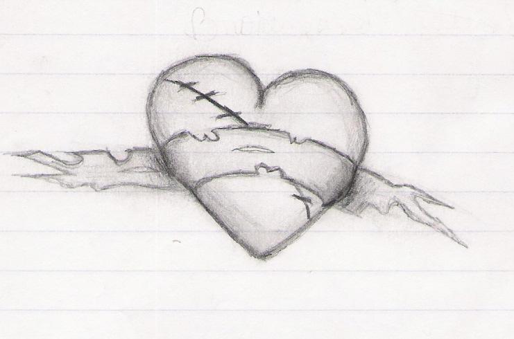 Emo Drawings Of Broken Hearts In Pencil Broken heart by amayatsukiPencil Drawings Of Broken Hearts