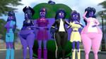 Blueberry Mane 7 (2) by GmodViolet