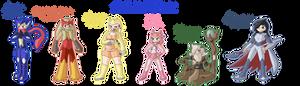 Pokemon X Gijinka Team