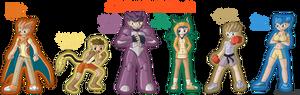 Pokemon FireRed Gijinka Team