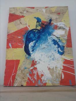 Accidental Art (II): A drunken blue cat having fun