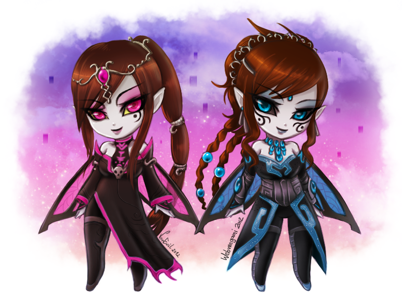 Chibi twili twins :collab: by Webmegami