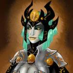 PaintTool SAI Test - Acendalia portrait by Webmegami