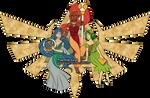 Golden Goddesses - Old book illustration by Webmegami