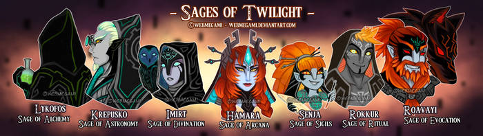 The Sages of Twilight by Webmegami