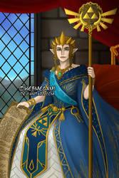 The Queen - Llewella Enor Zelda Hyrule by Webmegami