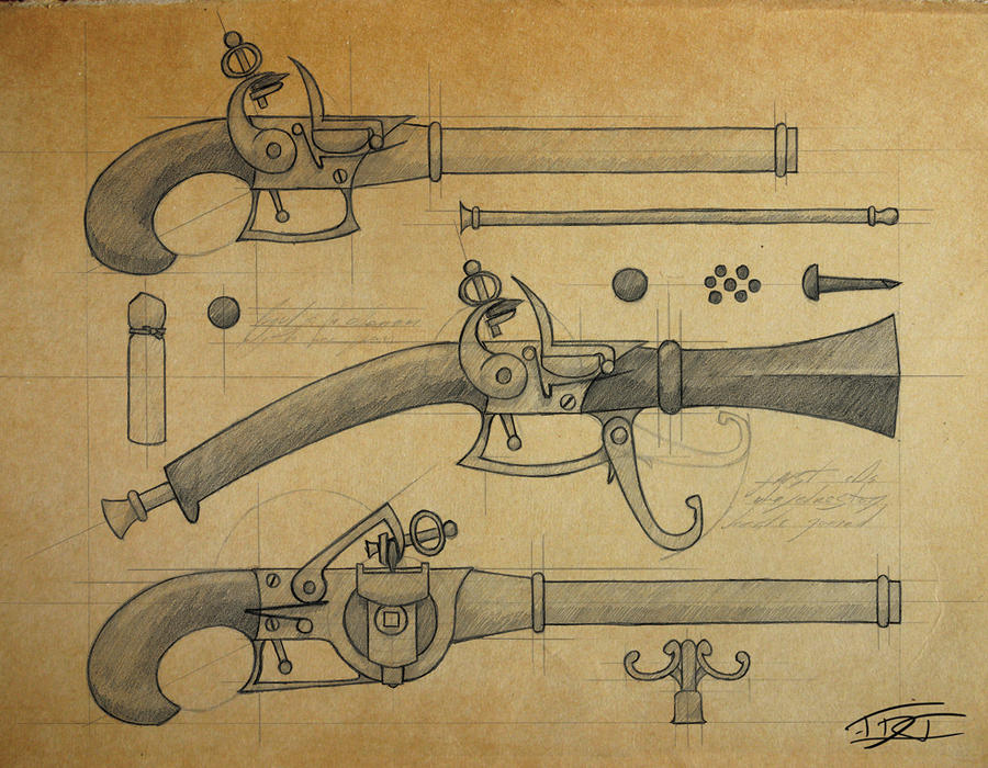 Elven Pistols by EpicTones